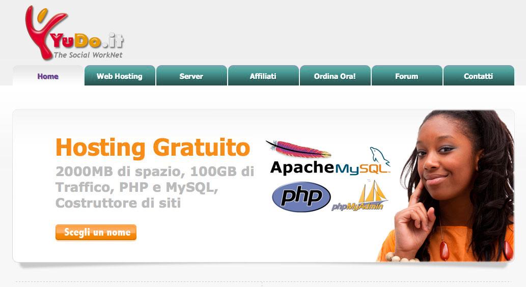 Hosting Gratuito PHP MYSQL APACHE WORDPRESS JOOMLA MAGENTO